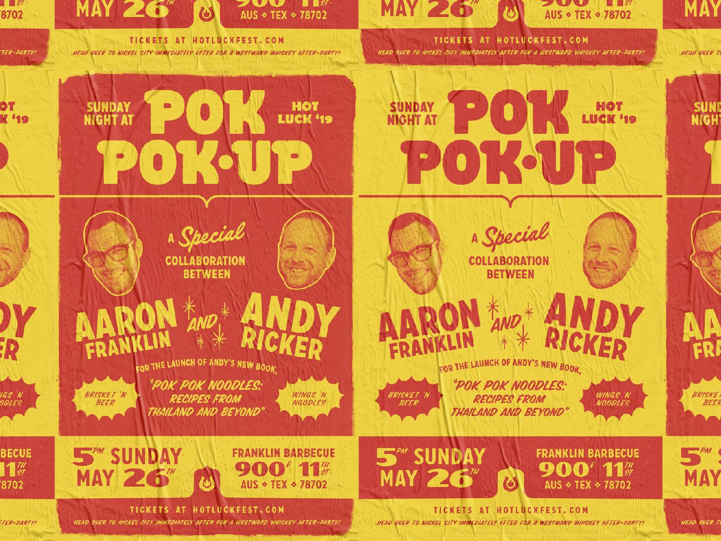 HL '19 Pok Pok-Up Poster typogaphy food hot luck poster design poster branding design