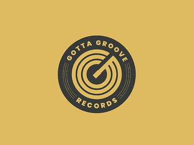 Gotta Groove Records vinyl record music brand identity vector branding logo