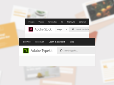 Navigation, Search, & Account system navigation layout ui web product design