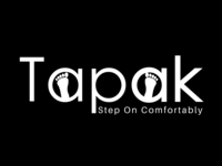 """""""Tapak""""  is a logo prepared for the brand of sandals"""