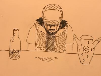 Inktober / 13 Ash