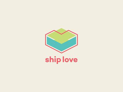 Ship Love ship love geometric vector logo design logo