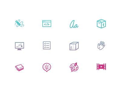 Skills Icons icons symbols skills design