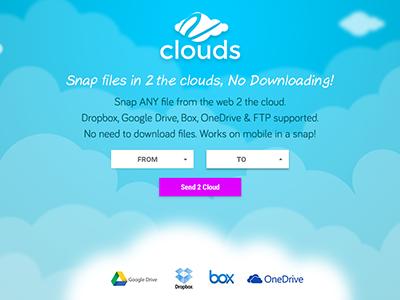 2Clouds Beta cloud landing
