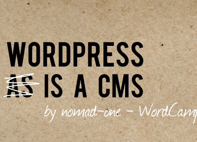 Wordpress Is Cms