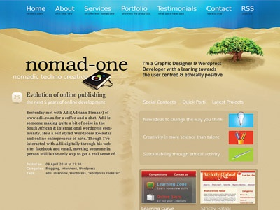 nomad-one.com redesign