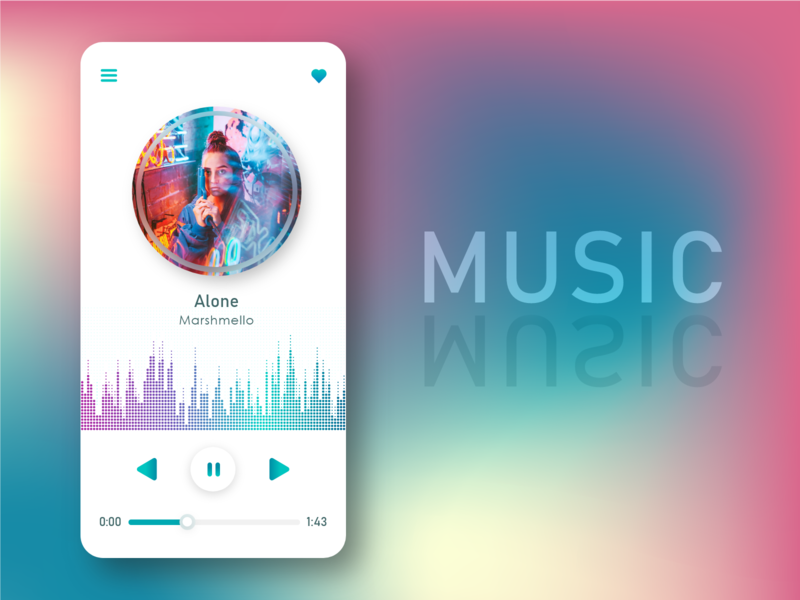 Daily UI 009  Music Player music app player ui gradient color gradient music player ui music player daily ui 009 adobe xd design adobexd app design dailyuichallenge ui design adobe xd daily ui dailyui daily 100 challenge