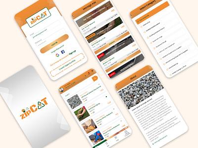 Mobile App UI ux ux design app ui typography ui design branding ui kit ui design ui  ux