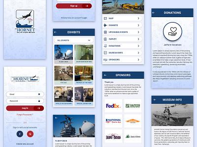 Mobile App UI ui app ui typography ui  ux ux design ux design ui kit branding ui design