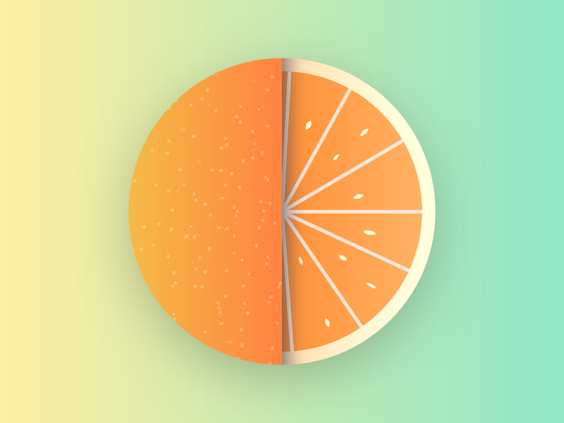 Gradient Orange gradient orange minimal flat icon vector illustration design