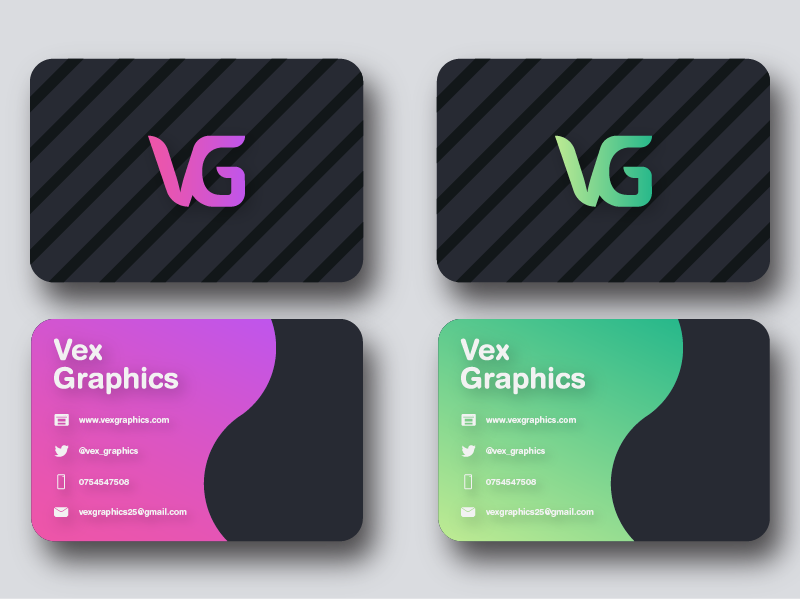 Business Card product design busniesscard typography logo branding gradient minimal vector illustration design