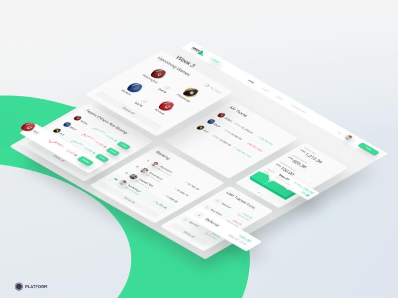 Fanvest - Web app dashboard interface ux ui design dashboard design web app web dashboard ui dashboard