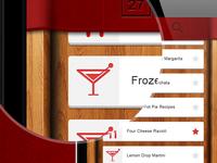 Recipes Mobile App - top part