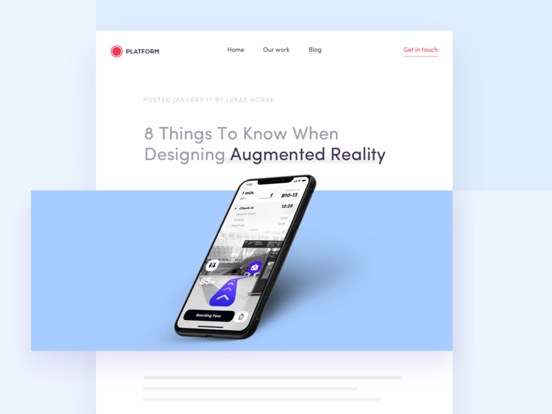 8 Things To Know When Designing Augmented Reality augmented reality ar blog design ux ux ui design ui design principles