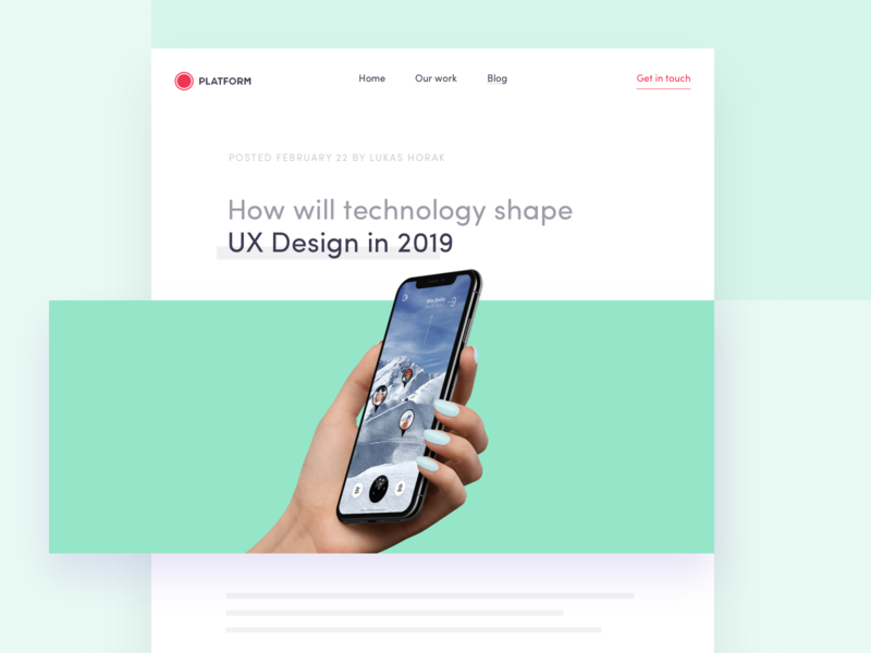 Blog: How will technology shape UX Design in 2019 by