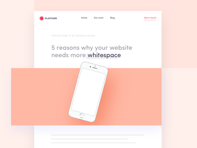 5 reasons why your website needs more whitespace mobile ui interface flat clean app website knowledge whitespace uxdesign ui  ux design blog