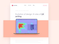 Evolution of design: 8 rules of UX writing