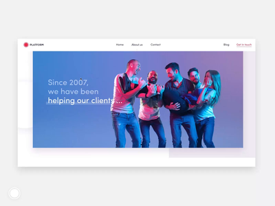 PLATFORM About Us about page about us aboutus design ux ui clean flat animation website