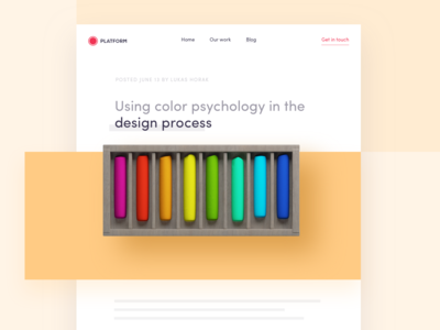 Blog: Using color psychology in the design process