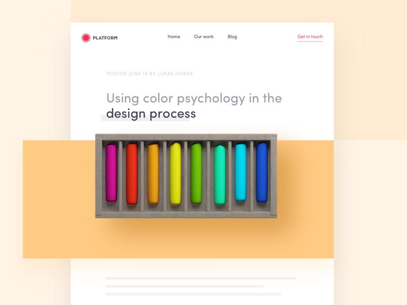 Blog: Using color psychology in the design process colors color blog ux branding interface website app ui logo illustration design