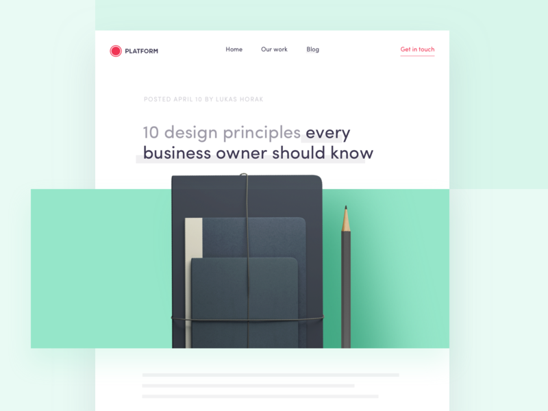 10 design principles every business owner should know ui ux clean interface website app mobile blog business principles design