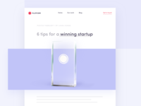 6 tips for a winning startup