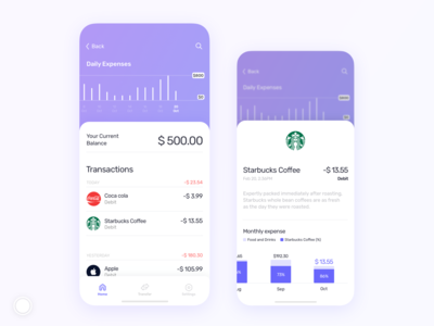 BNK app - Transactions