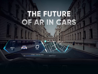 The Future of AR In Cars - Connected Experience ar augmentedreality design ui ux case study automotive cars car dashboard windshield future futurism autonomous car
