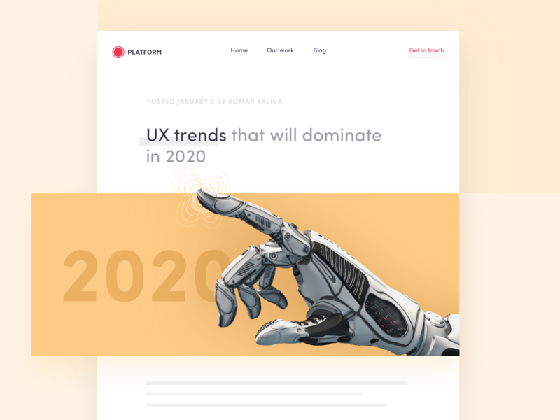 UX trends that will dominate in 2020 augmented reality vr ar ai artificial intelligence website interface app design ux trend 2020 2020 trend 2020 trends article blog