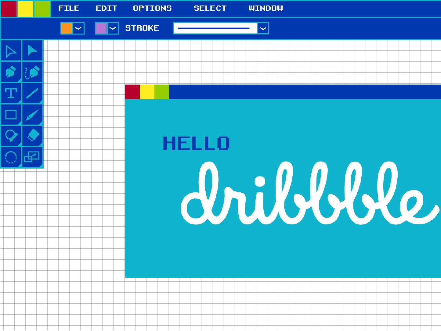Hello Dribbble vector design illustration