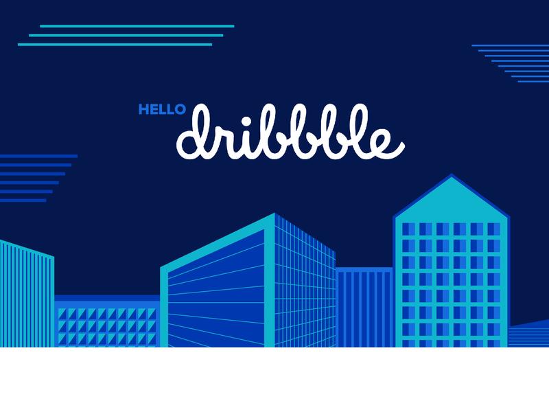 Hello Dribbble 2 vector illustration design