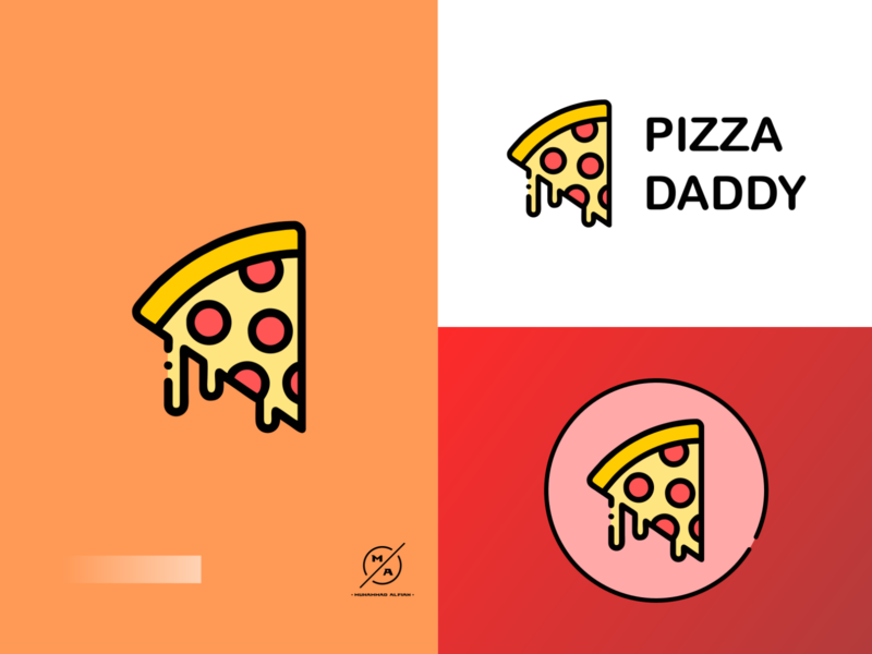 Pizza Daddy pizza logo design logos vector flat logo illustration brand icon inkscape logo design icon branding illustration inkscape design logo icon brand design logo designer logo design