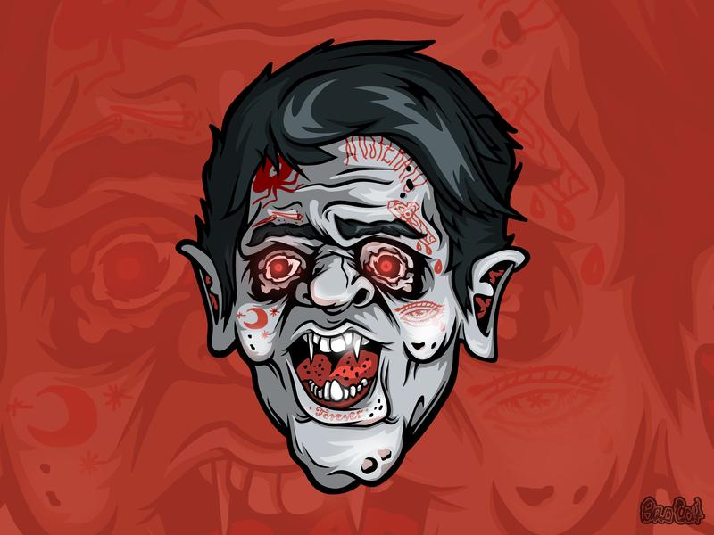Vampire design vampire sticker design stickers sticker