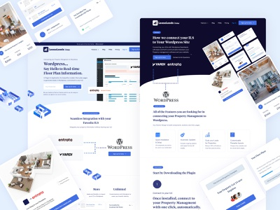 LeaseLeads Lander and WP Plugin Built on Webflow memberstack webflow wordpress wordpress plugin apartments real estate realestate landing page concept ui  ux ui landing page