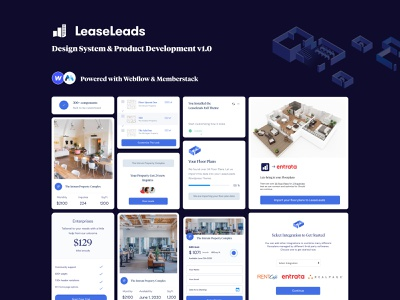 Lease Leads Lander and Downloadable integration wordpress wordpress plugin realestate real estate memberstack ui ux design system website ui webflow branding