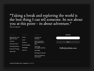 Wordpress Theme - coming soon brand web design web desktop client woo commerce tumblr interaction animation wordpress footer wordpress theme