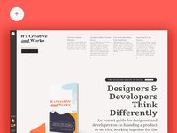 Creative and Works Book Home Page and brand