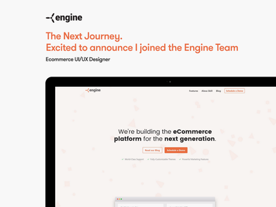 Excited to announce I joined the EngineCommerce Team Full-Time! new position open position position hiring hire company journey ui ux designer engine new hire