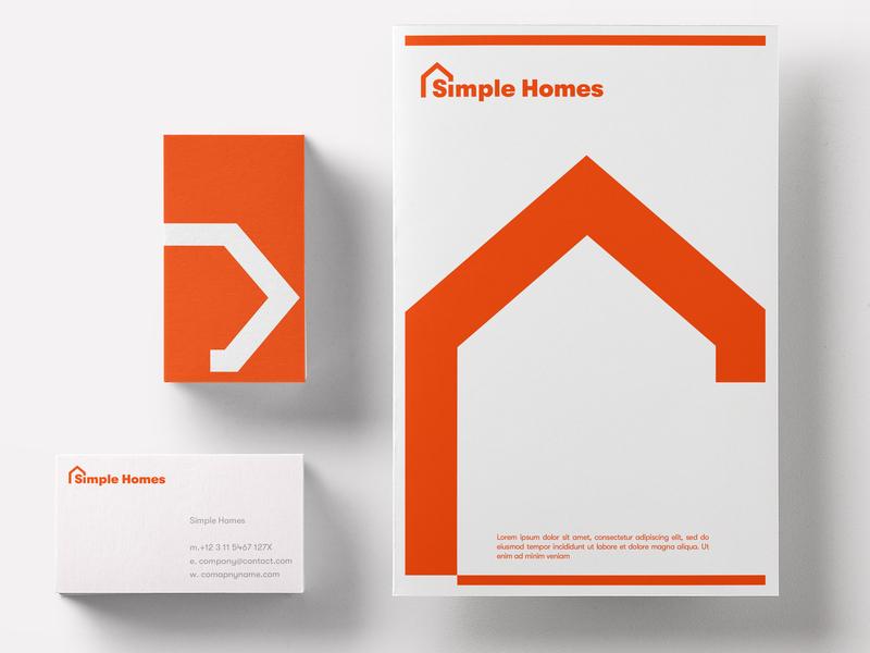 Simple Homes Identity business card mock mockup design mockup simple clean interface simple business card simple homes simple design