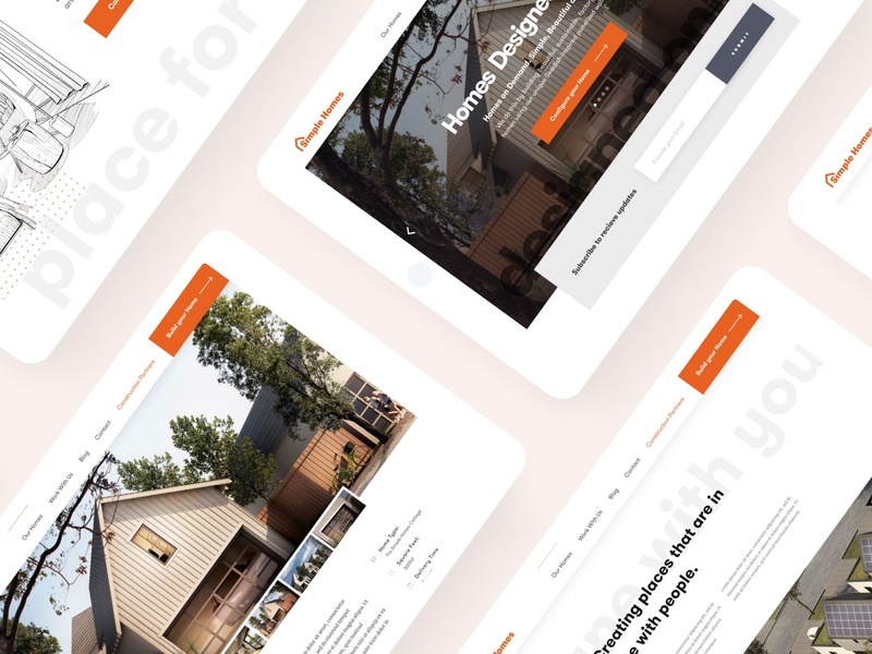 Simple Homes Identity and Website website banner homestay homes house ai house ai residential landing page landingpage branding website