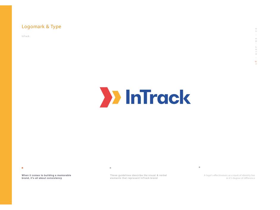 InTrack Brand brand and identity logo 2d brand design brand agency brand document logo design logo brand doc brand