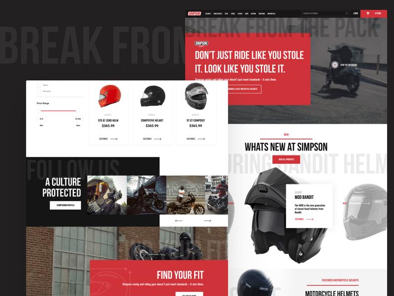 Simpson Motocyle Dept. Redesign online store store instagram shopping ecomm ecommence motor bike motorbikes motobikes bikes motocycle