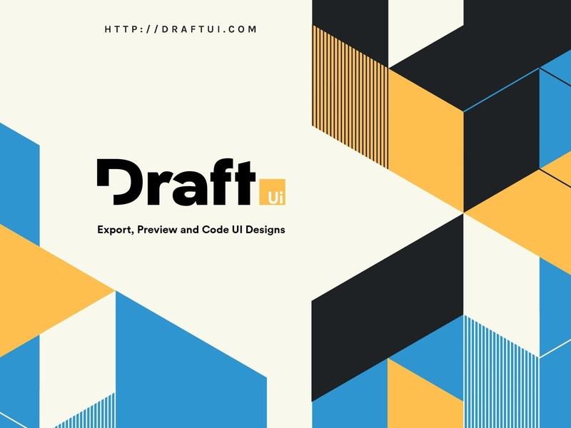 Draft Brand - Transform any design into code sketch figma app coming soon landing page illustration vector desktop website ui logo branding