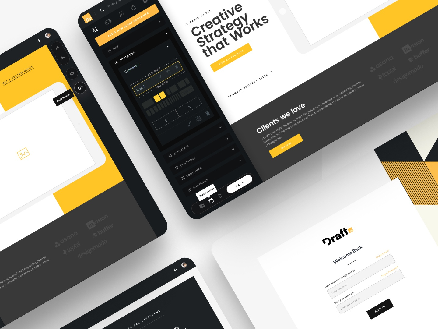 Draft - Turn Figma files into HTML software landing page vector design ui login page loging dashboard template dashboard app dashboard ui dashboard draft