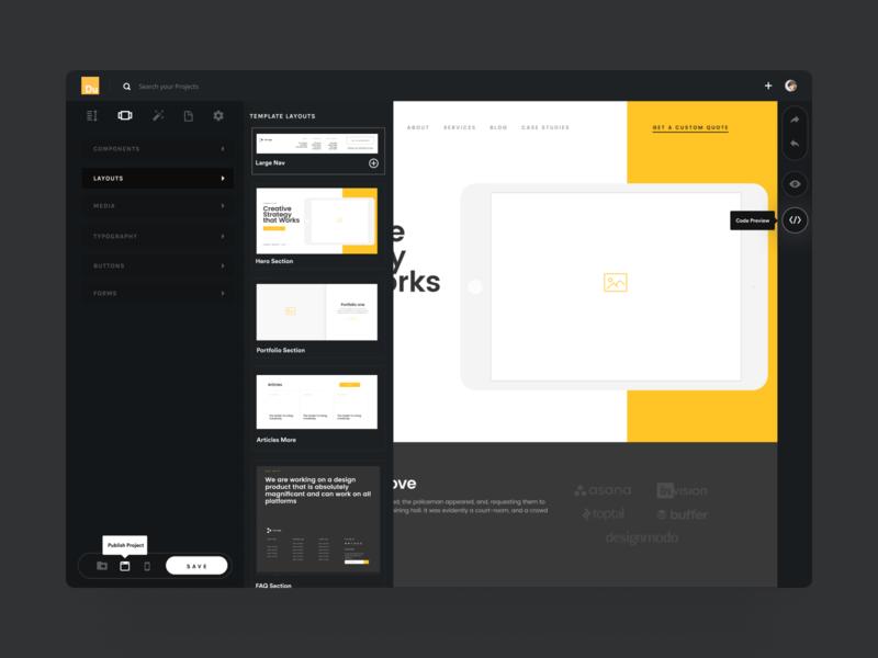 Draft - Turn Figma files into HTML builder website builder build websites no-code nocode wysiwyg drawer slideout vector design ui dashboard design dashboard ui dashboard