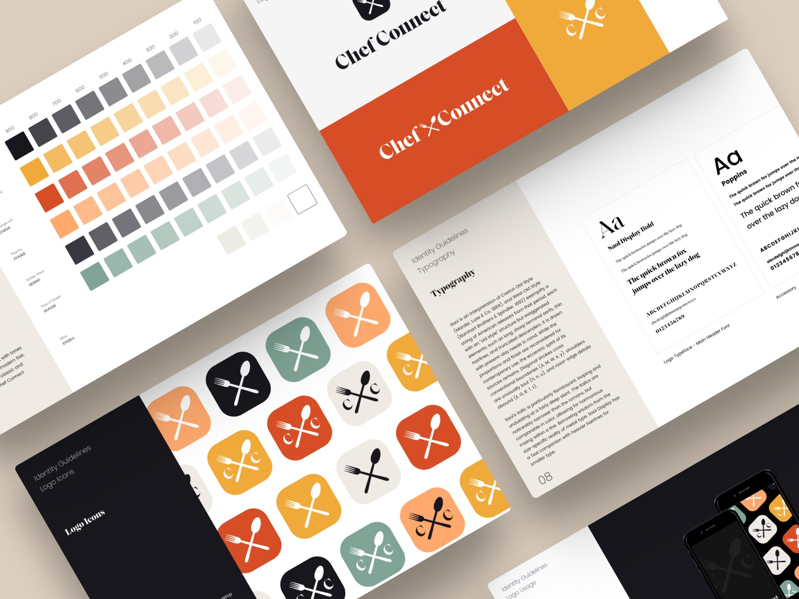 Chef Connect Brand Guide redesign logo guides style guides styleguide brand style guide rebrand brand brand guide keynote powerpoint slides design branding
