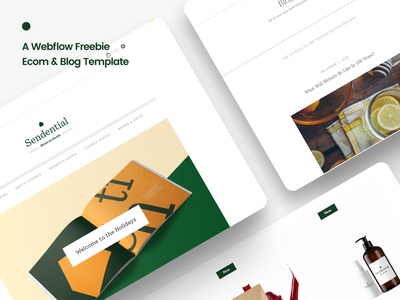 Sendential - A Free Ecom & Blog Webflow Clonable