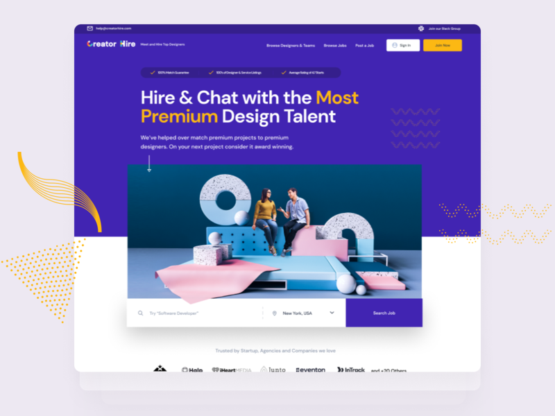 Creator Hire Landing Page