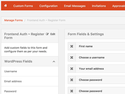 WordPress Form Builder design ui wordpress