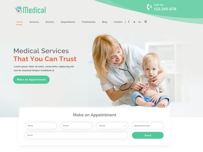 Medical Landing Page uiux graphic  design